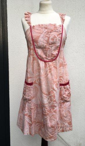 * HOSS INTROPIA *  leichtes TRÄGER KLEID rosa BAumwolle Taschen Gr 34 XS