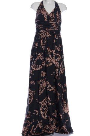 Hoss Intropia Maxikleid schwarz-creme abstraktes Muster Elegant
