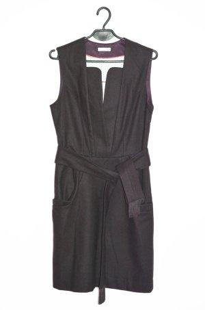 Hoss Intropia Wollkleid  Etuikleid Kleid Wolle mit Bindegürtel 38 Stiefelkleid