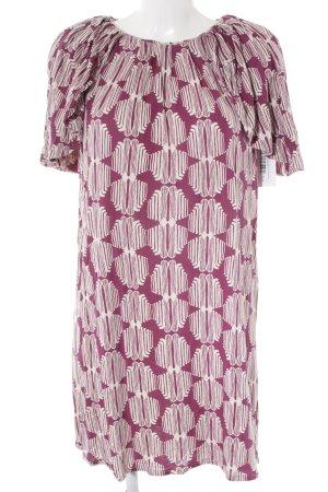 Hoss Minikleid violett-weiß abstraktes Muster Casual-Look