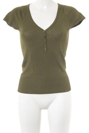 Hoss V-Ausschnitt-Shirt waldgrün Casual-Look