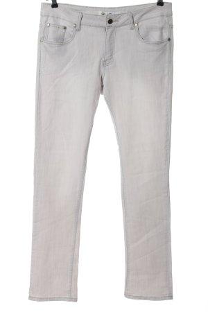 Hot Bottom pantalón de cintura baja gris claro look casual