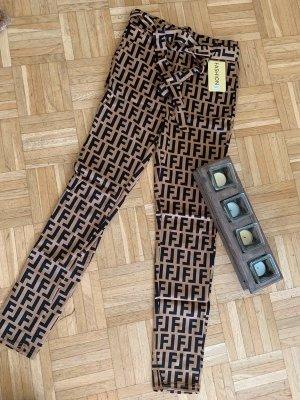 Spodnie z wysokim stanem Wielokolorowy