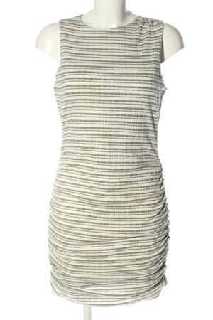 HOT GAL Stretch jurk wolwit-bruin gestreept patroon casual uitstraling