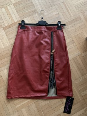 Faux Leather Skirt multicolored