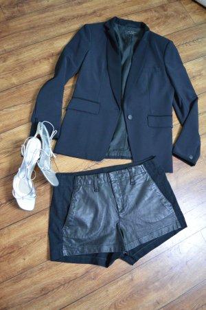 Rag & bone Hot Pants black leather