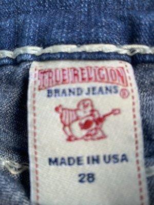 True Religion Pantalón corto azul celeste Algodón