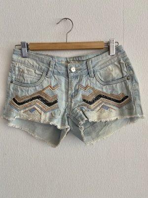 Paris Mode Denim Shorts multicolored