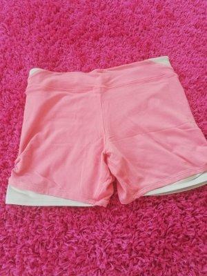 Hot Pants Fitness S rosa mit kleiner Tasche