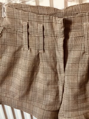 Hot Pants in beige/Gold/kariert