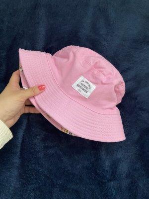 Cappello da pescatore fucsia neon Cotone
