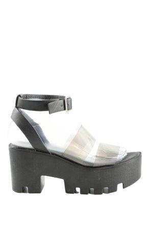 Hot soles Wedges Sandaletten schwarz Casual-Look