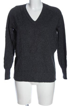 Hot Soup Green Tea Maglione di lana grigio chiaro puntinato stile casual