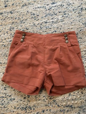 Review High-Waist-Shorts multicolored