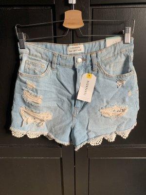 Terranova Shorts crema-azul celeste