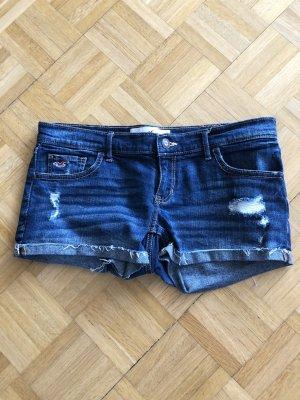 Hollister Jeans taille basse bleu acier coton