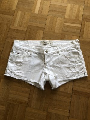 Hollister Jeans taille basse blanc coton