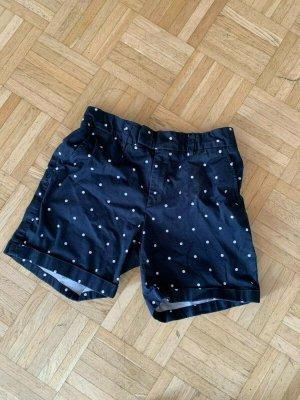 H&M Basic Hot pants donkerblauw-wit