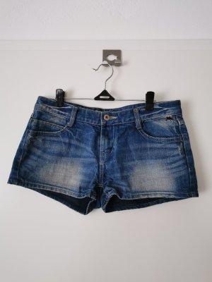 Pantaloncino di jeans blu Cotone