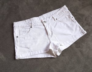 H&M Short en jean blanc-blanc cassé coton