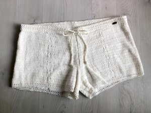 Hotpants element Strick Shorts Häkelshorts weiß süß neu