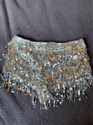 Pantalón corto color plata