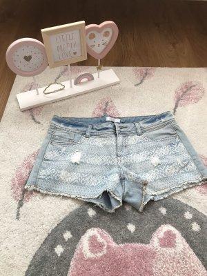 Hotpants Shorts hellblau Bohostil Festival, Promod 34