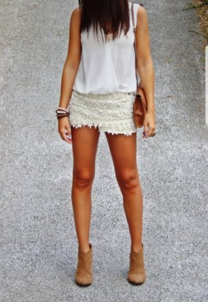 Hotpants Shorts Spitze Zara