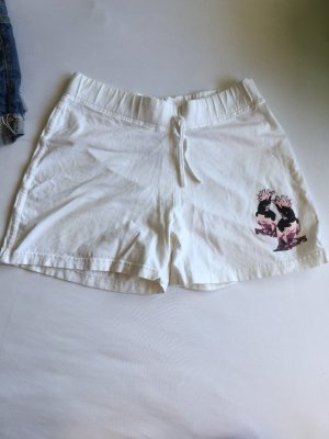 Hotpants Stoff weiß 36