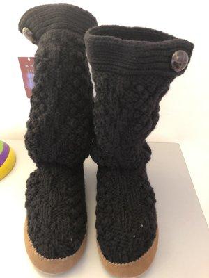 Ruby Pantoufles-chaussette noir laine