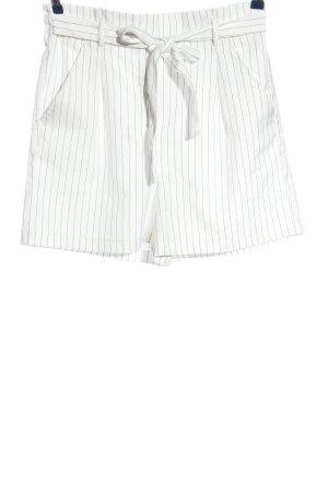 House High-Waist-Shorts weiß-schwarz Streifenmuster Casual-Look