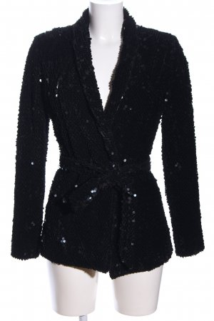 House of CB Long-Blazer schwarz Casual-Look