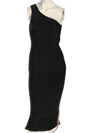 House of CB Sukienka na jedno ramię czarny Elegancki