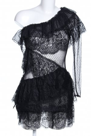 House of harlow 1960 Minikleid schwarz extravaganter Stil