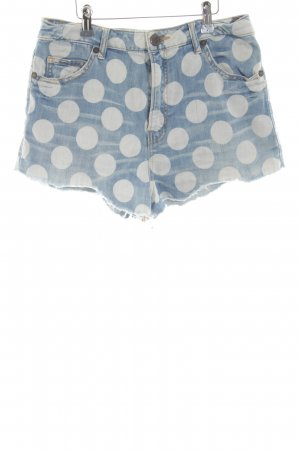 House of Holland Jeansshorts blau-hellgrau Punktemuster Casual-Look