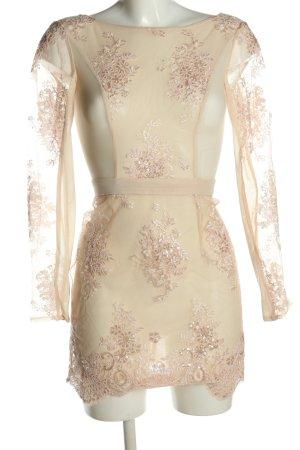 House of London Ball Dress cream-dusky pink polyester