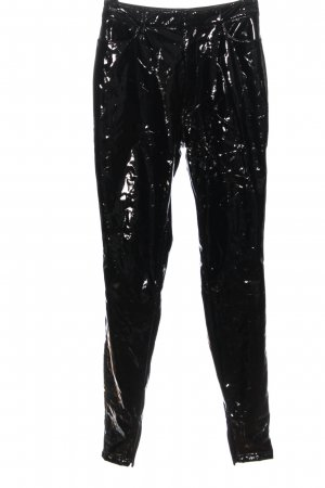 House of London Faux Leather Trousers black casual look