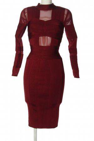 House of London Midi Dress red elegant
