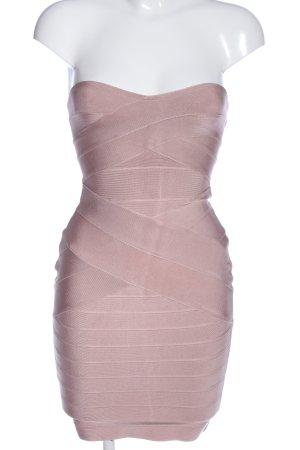 House of London Sukienka bez ramiączek różowy Wzór w paski Elegancki