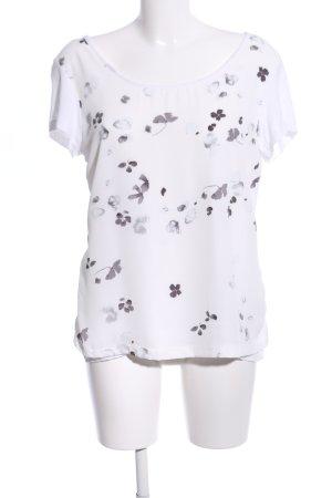 HS Navigazione T-Shirt weiß-hellgrau Blumenmuster Casual-Look