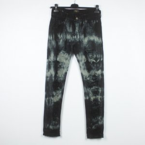 HTC Hollywood Trading Company Jeans Gr. 27 schwarz acid-washed destroyed look (19/05/195)