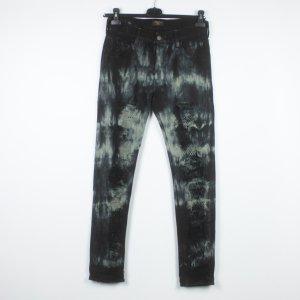 HTC Hollywood Trading Company Jeans Gr. 27 schwarz Batik  (19/05/195*)