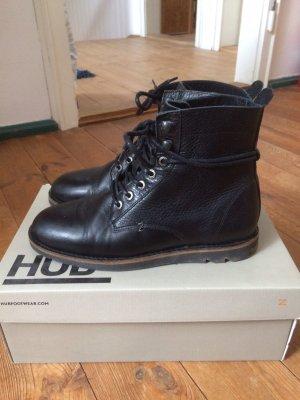 Hub Aanrijg laarzen zwart Leer