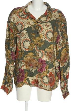 Huber Camicia blusa motivo astratto stile casual