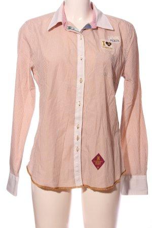 Huberman's Holzfällerhemd pink-weiß Karomuster Casual-Look