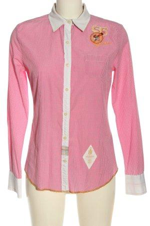 Huberman's Lumberjack Shirt pink-white allover print casual look
