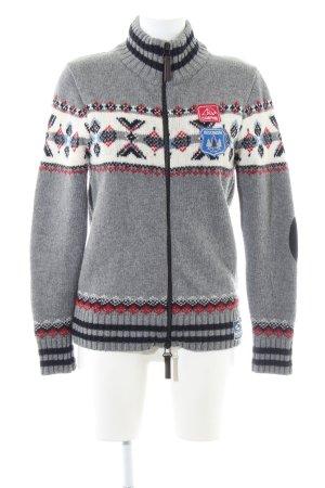 Huberman's Cardigan norvégien motif graphique style décontracté