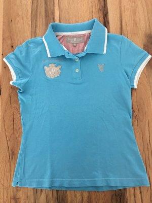 Huberman's Poloshirt Türkisblau mit Rückenapplikation S