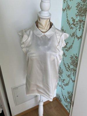 Hubert Gasser Bozen Blusa in seta bianco sporco-crema