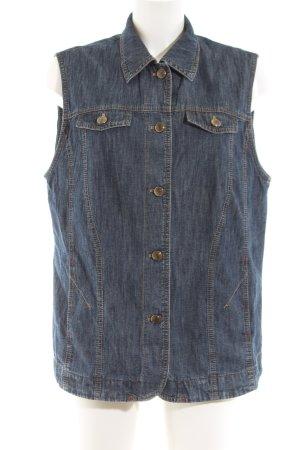 Hucke Smanicato jeans blu puntinato stile casual